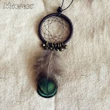 Small Dream Catcher Necklace Awesome MIAMOR Cute MINI Dreamcatcher Necklace Handmade Dream Catcher Net