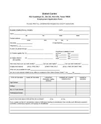 Generic Employment Application Form Job Application Template Employment Form Basic Forms Free