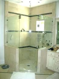 shower cost seamless doors in cape c fl door charming of to install glass semi frameless