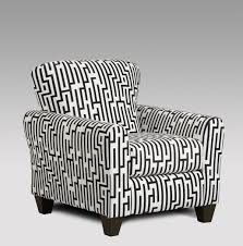 affordable furniture maze black  white accent chair   savvy