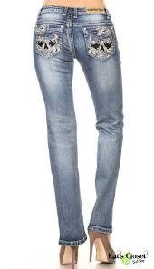 Platinum Plush Jeans Size Chart Discontinued Skull Embroidered Designer Ladies Jeans With Rhinestone Embellishments Platinum Plush Designer Jeans