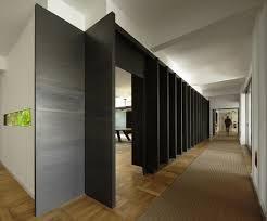 contemporary office interior design ideas. contemporary office interior design - corridor with dark colored wall ideas