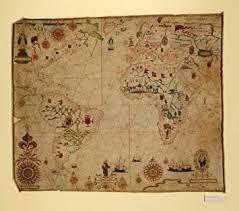 Portolan Charts Amazon Com 1633 Nautical Charts Atlantic Ocean World Map