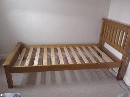 single bed frame 49 ono wooden headboard footboard slat base 202cm x 103