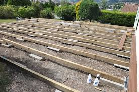 Fabriquer Une Terrasse En Bois Avec Une Terrasse En Bois Et Terrasse Lambourde
