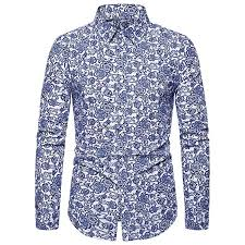 Mens Button Down Dress Shirts Summer Casual Slim Fit Plus