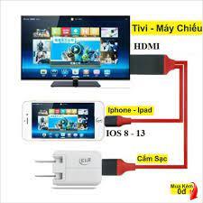 Cáp HDMI cho iPhone 6 / 7 / 8 / X, iPad kết nối Tivi, Máy chiếu cao cấp.IRH  [AQ]