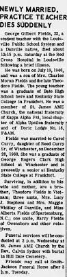 Obituary for George Gilbert Fields (Aged 22) - Newspapers.com