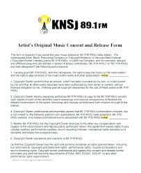 Music Release Form Forms Artist Template Contract Makeup