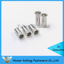 China Stainless Steel <b>Flat</b> Head <b>Knurled</b> Body Closed <b>End Rivet Nut</b> ...
