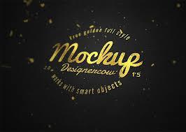 Free Logo Mockup Free Logo Mockup Gold Foil Effect Free Mockup