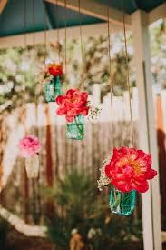 Blue Mason Jars Wedding Decor Trends We LOVE 100 Hanging Wedding Decor Ideas Blue mason jars 71