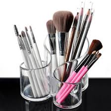 cosmetic makeup brush holder nz portable size 3 grids acrylic makeup organizer transpa desk cosmetic