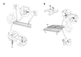 ikea lycksele frame sofabed assembly instruction page 4