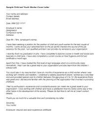 Youth Worker Cover Letter 3 Download Sample Child Care