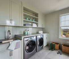 beach style laundry room by cynthia hayes interior design