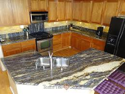 granite kitchen countertops with custom backsplashes