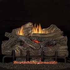 superior fireplaces 36 inch smokey mountain gas logs with vent free propane gas blaze n glow ramp burner electronic ignition
