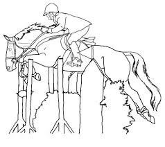 Small Picture Well Suited Horse Jumping Coloring Pages Realistic Horse Coloring