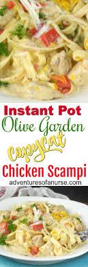 instant pot olive garden en scampi