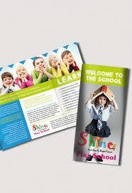 School Free Psd Tri Fold Psd Brochure Template