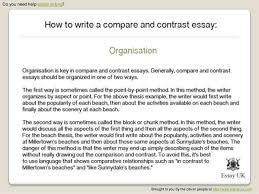 how to write a compare and contrast essay essay writing