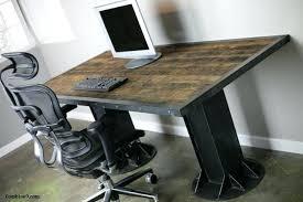 industrial office decor. Unique Industrial Industrial Office Decor Modern Desk Table Steel I Beam Urban  Loft Rustic For Industrial Office Decor S