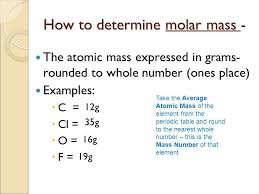 The Mole Theory Molar Mass. Mass of a Mole o Molar Mass- the mass ...