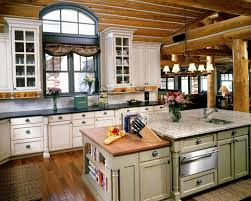 image of log cabin kitchens images