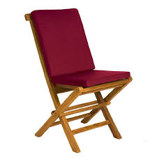 teak folding chair cushion image