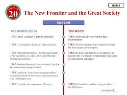 20 The New Frontier And The Great Society Kennedy And The