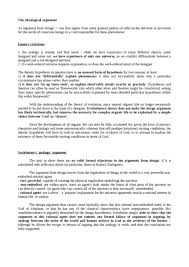 essay ontological argument oxbridge notes the united kingdom teleological argument notes