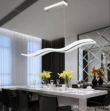 home lighting fixtures. Newest Wave Chandelier Led Pendant Lights Living Room Simple S Shaped Acrylic Indoor Droplight Home Lighting Fixture Glass Light Fixtures T
