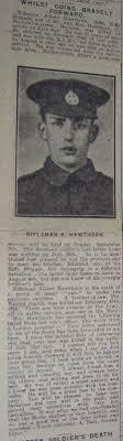 Burnley Roll of Honour Rifleman Albert Hawthorn