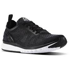 reebok shoes black and white. reebok - print smooth clip ultraknit black / ash grey coal white pewter shoes and