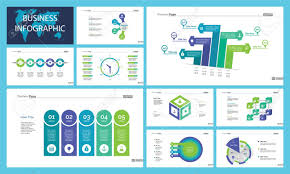 Website Design Workflow Chart Business Presentation Page Design Set Can Be Used For Annual