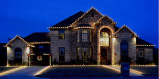 luxury home lighting. Roof Perimeter And Archway Outlined In Traditional Clear Bulbs Luxury Home Lighting E