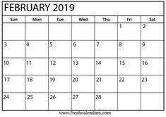 Calendar Formats 81 Best Blank February 2019 Calendar Template Images In 2019