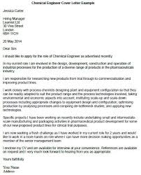 Chemical Engineering Cover Letter By Jessica Carter Sample Cover