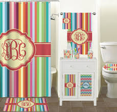 teal striped shower curtain. retro vertical stripes shower curtain (personalized) teal striped