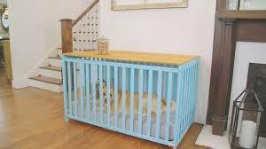 turn a crib into a dog crate 01 31