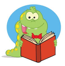 reading clipart image cartoon bookworm reading a book