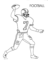 Coloring Pages Football Free Football Player Drawing Download Free Clip Art Free Clip Art