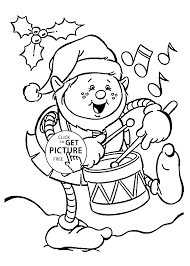 Christmas Elf Coloring Pages Free Swifteus