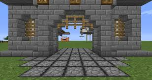 minecraft gate. Brilliant Minecraft PcDetail Use Upright Droppers To Give Your Gate That  In Minecraft I