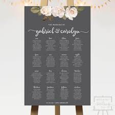 Seating Chart Wedding French Florals Wedding Seating Chart