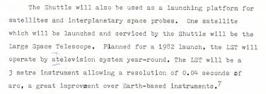 canadian space most of these statements proved to be wrong even as i wrote them in the fall of 1976 the year before the large space telescope had been re d the space