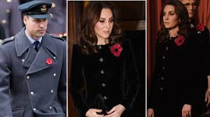 Duchess of Cambridge hides baby bump at Remembrance Festival ...