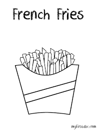 Small Picture French Fries Coloring Page My First ABC