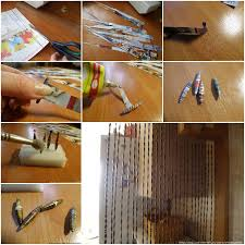 how to make newspaper beads curtain step by step diy tutorial instructions thumb